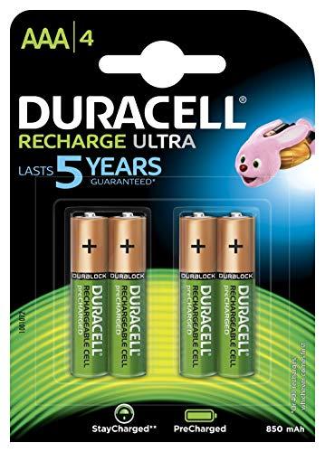 Duracell Recharge Ultra AAA Micro Akku Batterien LR6 900 mAh, 4er Pack