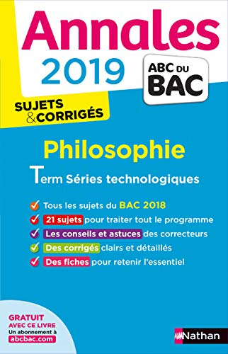 Annales ABC du BAC 2019 - Philo Term STMG