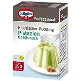 Dr. Oetker Professional Klassischer Pudding mit Pistazien-Geschmack, Puddingpulver in 1 kg Packung