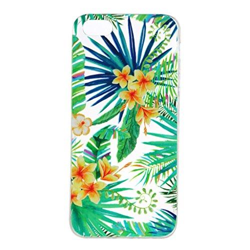 Per iPhone 5S / 5 / SE Cover , YIGA Moda arancione cibo Cristallo Trasparente Cassa Silicone Morbido TPU Case Caso Custodia Protettiva Shell per Apple iPhone 5S / 5 / SE WM96