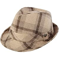 HY-Visor England men's plaid hat autumn and winter vintage woolen hat performing jazz hat tide