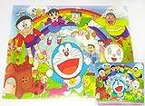 Fun Doraemon And Friends 80 pieces Wooden Jigsaw Puzzle Multicolor Cartoon Puzzle for Kids 23.6 cm x 16 cm
