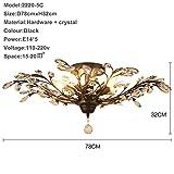 Plafoniera Plafoniera a LED per soggiorno Plafoniera a cristallo Abajur Plafoniera a soffitto in cristallo AC110V 220V 240 V