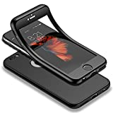 Für iPhone 6s Hülle + Panzerglas, HICASER 360 Grad Komplettschutz Vorder und Rückseiten Schutz Schale Ganzkörper-Koffer Soft TPU Schutzhülle für iPhone 6 / 6s 4.7