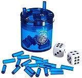 BestSaller 3012 SUPER SIX ABS Kunststoff – auch für die Reise, 36 Spielstäbchen & 2 Würfel, blau (1 Stück)