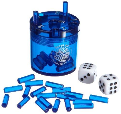 Preisvergleich Produktbild BestSaller 3012 SUPER SIX ABS Kunststoff - auch für die Reise, 36 Spielstäbchen & 2 Würfel, blau (1 Stück)