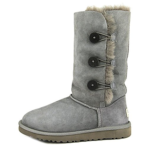 UGG Kid's Bailey Button Triplet , Bottes mixte enfant Grey