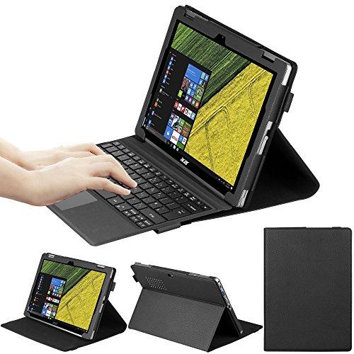 VOVIPO Portfolio Premium PU-Leder-Ständerabdeckung Kompatibel mit dem Aspire Switch 3 Touchscreen Abnehmbarer 2-in-1-Laptop