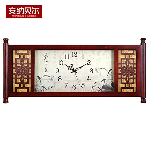 y-hui relojes reloj de pared rectangular de madera de salón Accueil Ambiance...