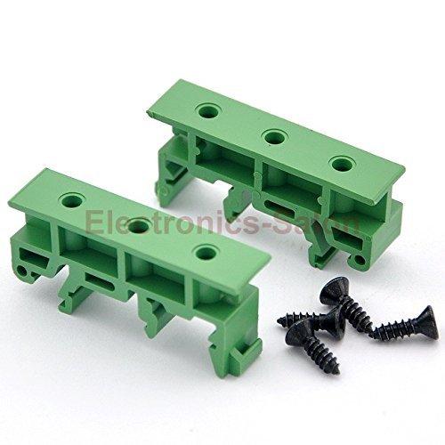 Electronics-Salon 5 Sets Hutschienen-Adapter (Füße), für 35 mm, 32 mm oder 15 mm DIN Schiene. Din-rail Mounting Clips