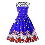 Kleider Damen Pullover Kleid Elegant Brautjungfernkleid Petticoat Hepburn Rockabilly Herbst Winter, Weihnachtskleid Weihnachtsmann Vintage Abend Party Prom Swing Kleid(13,X-Large)