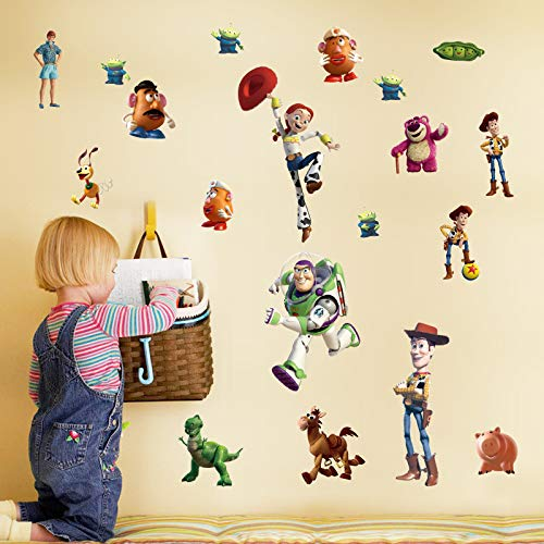 Wall Sticker Toy Story Kinderzimmer Schlafzimmer Kinderzimmer Dekoration Wasserdicht Kann Home Office Art Dekoration Dekorationen Umweltschutz Pvc-wandaufkleber Entfernen 60 * 90cm