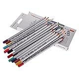 niceEshop(TM) 24-Farben Raffine Marco Fein Professionelle Kunst Buntstifte / Softcore Zeichnung Bleistifte für Sketch