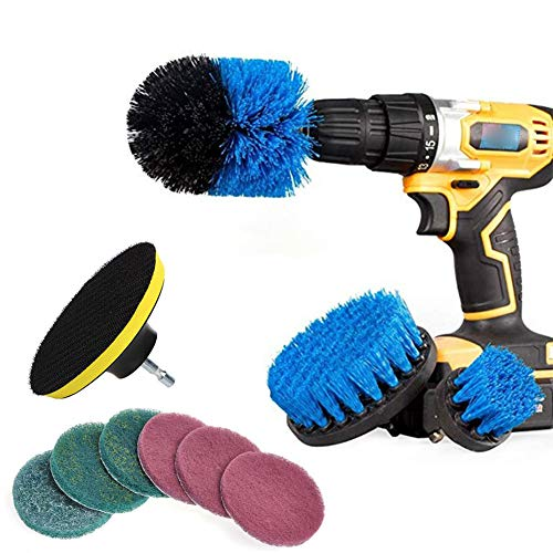 Majome 10 Teile/Satz Fliesenmörtel Power Scrubber Reinigung Bohrer Kit Scrub Tub Cleaner Tools