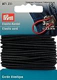 Elastic-Kordel 2,5 mm schwarz