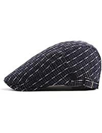 Zhhlaixing Vendimia Algodón Ivy Cap para Hombres Mujeres Color Sólido Gatsby Golf Caps Ajustable Boinas de Calidad 4JlMC4stz