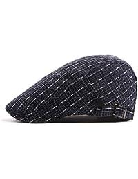Zhhlaixing Vendimia Algodón Ivy Cap para Hombres Mujeres Color Sólido Gatsby Golf Caps Ajustable Boinas de Calidad