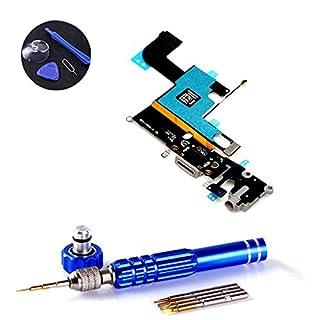 PPdigi Dock Connector für iPhone 6 USB Ladebuchse Audio buchse Mikrofon mit Werkzeugset (iPhone 6, Space Grau)