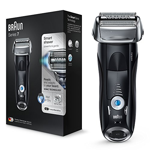 Price comparison product image Braun Series 7 Electric Shaver for Men 7840s, Wet and Dry, Integrated Precision Trimmer, Rechargeable and Cordless Razor with Travel Case, Black