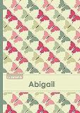 Le carnet d'Abigail - Lignes, 96p, A5 - Papillons Vintage