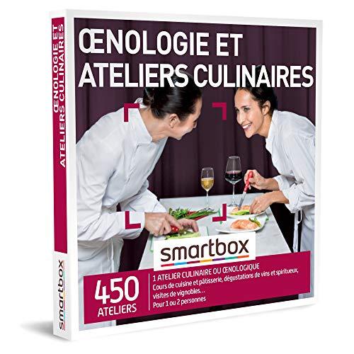 SMARTBOX - Coffret Cadeau homme femme couple - Œnologie et ateliers culinaires -...