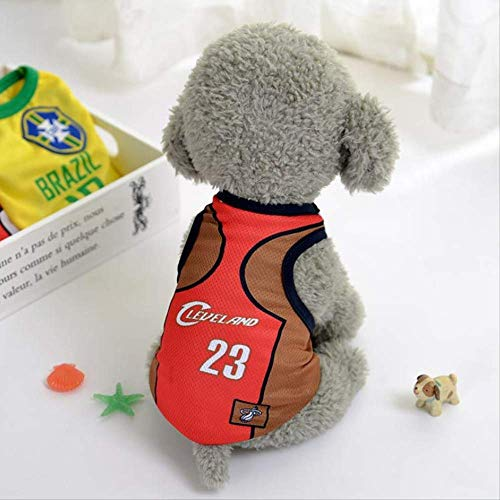 World Cup Dog Jersey, Football T-Shirt Dogs Kostüm, National Soccer Dog Pajamas FIFA Jersey Cats Onesie Für Hunde Und Katzen XL B