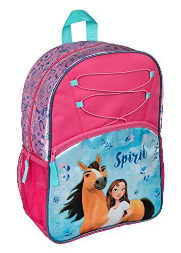 Undercover Rucksack für Schule und Freizeit, DreamWorks Spirit Schulrucksack, 41 cm, Blau