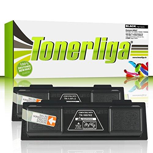 Preisvergleich Produktbild 2x TK160 Toner kompatibel f. Kyocera Ecosys P2035d / FS-1120d / FS-1120dn / Ecosys P2035dn - 100% fabrikneue Ware