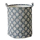 Wäscherei-Korb rund, Baumwolle Leinen Wasserdicht PE Beschichtung Korb Aufbewahrung Misc Aufbewahrungsbox lmmvp 45*35CM A