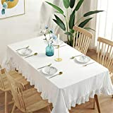 DHHY Mantel de algodón Mantel Plisado Encaje Cuadrado Hogar Cubierta Decorativa Toalla C 140x180cm