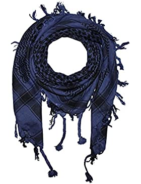 Freak Scene Foulard kefiah palestinese 100% cotone classica a due colori 100x100 cm – blu-scuro/nero