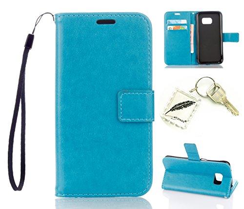 Preisvergleich Produktbild Silikonsoftshell PU Hülle für Samsung Galaxy S7 (5,1 Zoll) Tasche Schutz Hülle Case Cover Etui Strass Schutz schutzhülle Bumper Schale Silicone case+Exquisite key chain X1#KA (4)