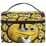 Kosmetiktasche, Cartoon Gesicht Emoji Muster Tragbare Reisetasche Großdruck Kosmetiktasche...