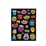 Lustige Monster Aufkleber in 23 unterschiedlichen Motiven 12 Blätter Sticker Palandi®