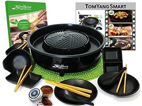 TomYang-Professional. Der Original Thai Grill & Hot Pot mit Kochbuch, 10teiligem Geschirrset und (Kochen Ideen Für Weihnachtsfeier)
