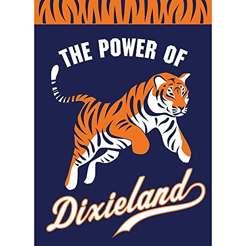 Magnolia Garden The Power of Dixieland Tiger Navy und Orange Streifen 13 x 18 Kleinen Garten Flagge -