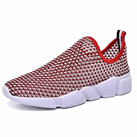 Hommes Mode Respirant Chaussures de loisirs Chaussures de sport Lumière Chaussures de course Chaussures plates Formateurs EUR TAILLE 36-45 , red , 36