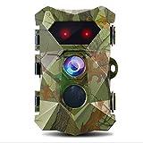 DJLOOKK Wildkamera 16MP 1080P, Super Power IR-LEDs Nachtsicht bis zu 82 Fuß Trail-Cams, 0,2 Sekunden Auslöser-Bewegungskamera mit wasserdichtem 2,4-Zoll-LCD-Bildschirm Wildlife Outdoor-Spielmonitor