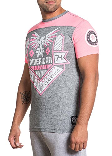 American Fighter by Affliction T-Shirt Augusta Weathered Grau Pink