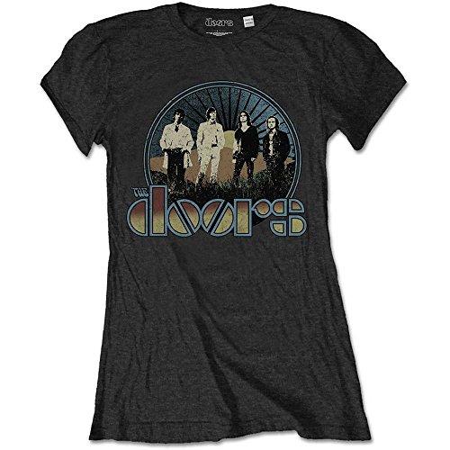 Rockoff Trade Damen The Doors Vintage Field T-Shirt, Schwarz (Black), 40 -