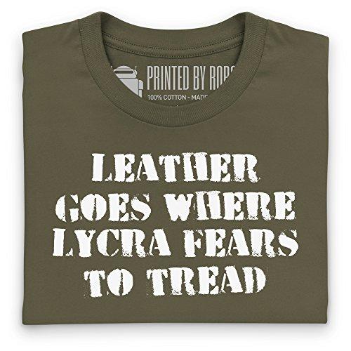 Leather Versus Lycra T-Shirt, Damen Olivgrn