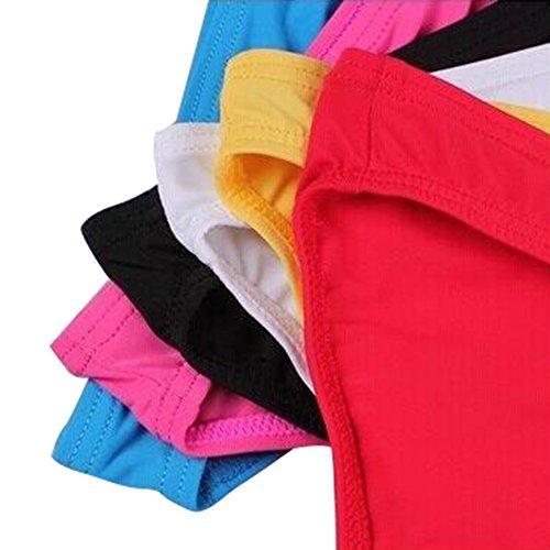 hibote Packung mit 3 Herren Slips Unterwäsche Shorts Niedrig-Taille Slips für Männer Boxers--einschließlich 3PCS Mensunterwäsche Blau-Schwarz-Rosa-3PCS