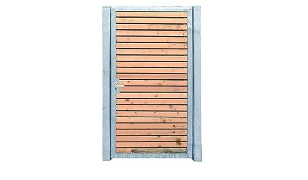 Gartentor Holztor mit Pfosten 105cm x 150cm Tor Pforte Verzinkt Holzfüllung Quer