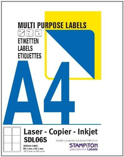 Preisvergleich Produktbild 100 A4 Blatt, 2 Etiketten/A4 Blatt, multifunktional selbstklebende Etiketten, 199,6 x 143,5 jedes Etikett (L7168) Computer Tintenstrahldrucker/Kopierer/Bettlaken Etiketten für Laserdrucker, in der Box und versiegelt