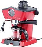 Rosenstein & Söhne Kaffeemaschine: Dampfdruck-Siebträger-Espressomaschine ES-800.retro mit Aufschäumer (Siebträgermaschine)