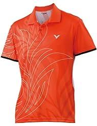 Victor Lady de Polo Korea Open, color naranja, tamaño XL