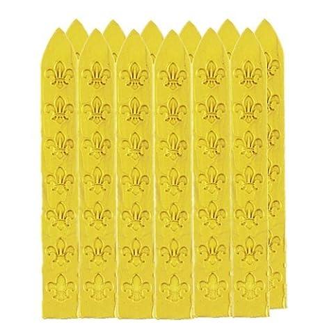 UNIQOOO Arts & Crafts 12 Gold Sealing Wax Sticks for Wax Stamp