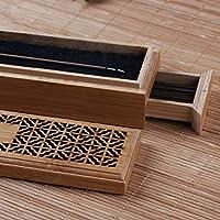 ELECTROPRIME Box Joss Stick Burner Hand Made Natural Ash Catcher Bamboo Incense Holder