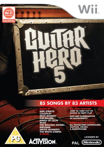 Guitar Hero 5 - Game Only (Wii) [Importación inglesa]