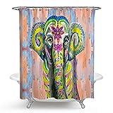 Bishilin 3D Anti-Schimmel Duschvorhang 150x180 Elefant Badvorhang Anti-Schimmel